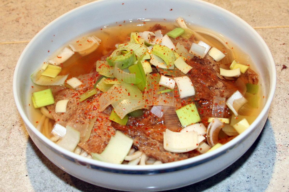 Nouilles Udon au tofu frit – Kitsune Udon | La cuisine Japonaise